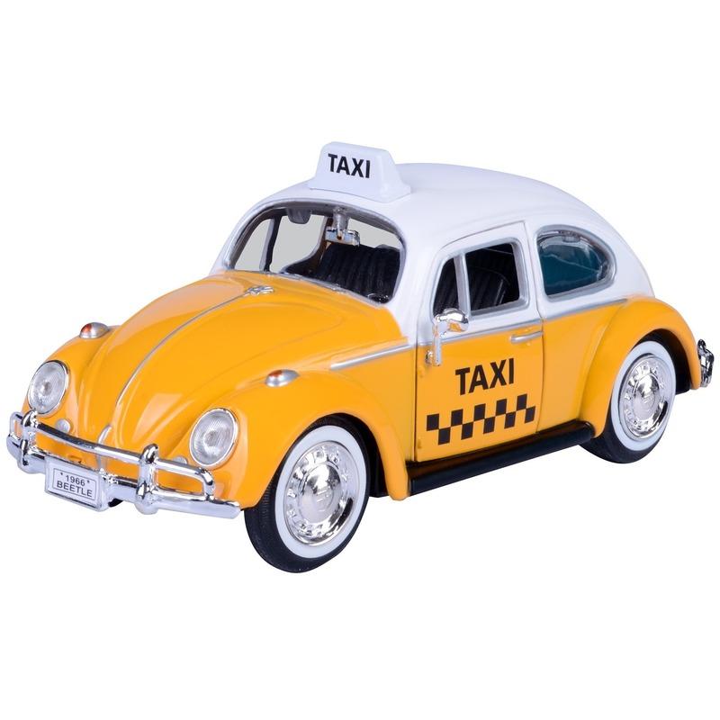 Schaalmodel volkswagen kever taxiauto 1 24